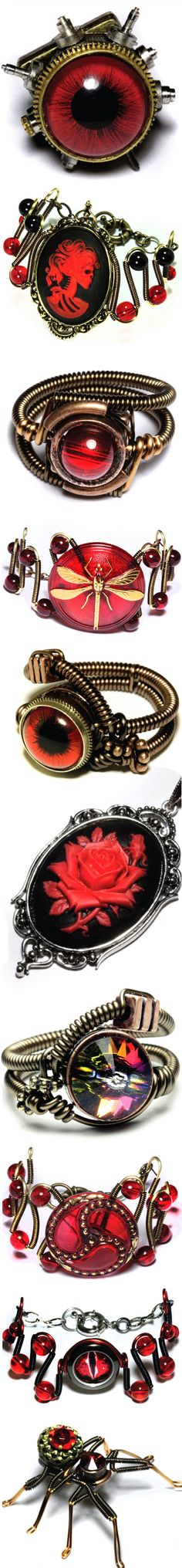 Steampunk Jewelry by CatherinetteRings : http://www.etsy.com/shop/CatherinetteRings