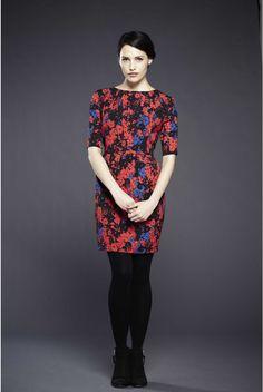 Louche Alberta Inky Floral Print Dress - Sale Dresses - Sale Womenswear - Sale