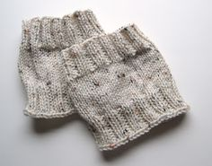 DIY knit boot cuffs! So cute and warm. I'm making these for sure.