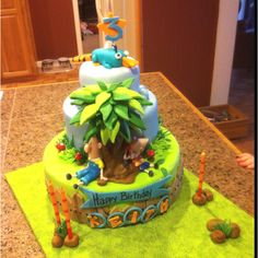 Cake Art Definition : ~ Phineas & Ferb Party ~ on Pinterest Perry The Platypus ...