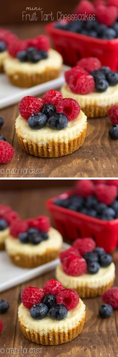 These Mini Fruit Tart Cheesecakes are the perfect to end any meal!