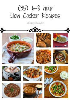 35 Slow Cooker Recipes with a 6 - 8 Hour Cooktime!  Set it and forget it overnight or during the workday with no worry :)  #slowcooker #recipes