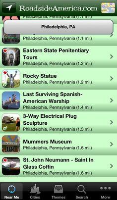 Roadside America- road trip apps