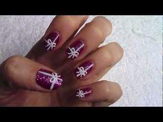 present nail art mani!    kawaiiii! for christmas maybe? :)
