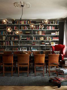 Glamorous yet casual library at Swedish Ett Hem Hotel | via Somewhere I Would Like to Live