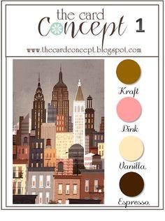 Stampin' Up! Colors: Crumb Cake, Calypso Coral, Very Vanilla, Early Espresso