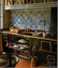 Love the tile for this kitchen backsplash!