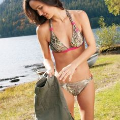 I'm not one for camo swimsuits but I LOVE this one. :)