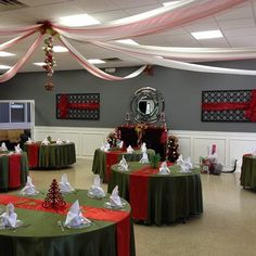 Our church's Christmas Banquet decor