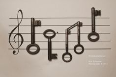 """Music """"written"""" with old keys"""