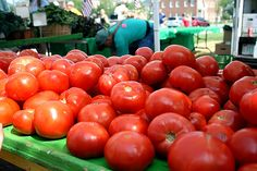 Fresh tomatoes at the Carmel Farmers' Market, Indiana