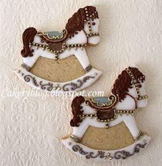 rock hors, cooki decor, carouselrockinghors cooki, carousel horse cookie, amaz cake