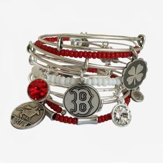 england, charm bracelets, fans, redsox, alex and ani