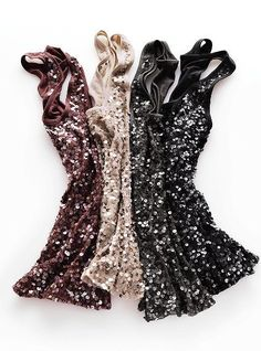 Sparkly tanks. Good for layering in the fall.
