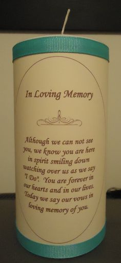 """to do in memory of all of those who will have passed before I say """"I Do"""""""