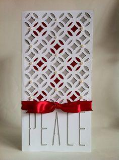 Courtney Lane Designs: elegant Peace easy Christmas card