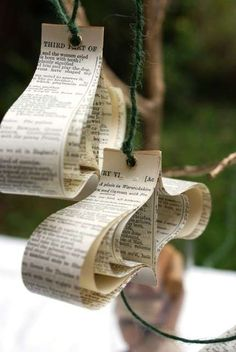 Recycled Book Ornaments 2