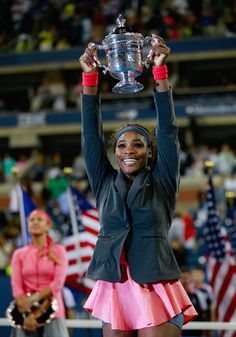 World #1 Serena Williams lights up Arthur Ashe Stadium with her beautiful smile after winning the 2013 U.S. Open Title for a 5th Time! ... Serena defended her title by beating World #2 Vika Azarenka (7-5, 6-7, 6-1 in 2 hours, 45 mins )for the 1st time in her phenomenal career to capture her 17th SLAM Title & 9th Title of 2013.  Day 14, 9/8/13 #TEAMSERENA