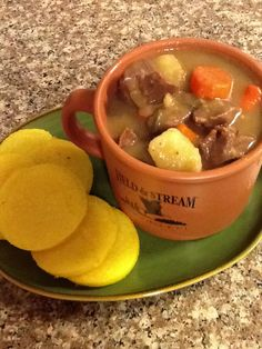 My Venison Stew recipe: 2 cups of potatoes 2 cups of carrots 1 cup of ...
