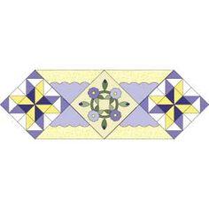 Lilac Splendor: FREE Floral Appliqué Table Runner Quilt Pattern