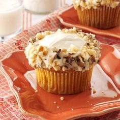 Maple Carrot Cupcakes Recipe from Taste of Home