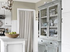 decor, wall colors, idea, curtains, china cabinets, floor, cupboards, hous, country kitchens