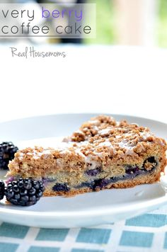 Very Berry Coffee Cake | Real Housemoms | The only thing that could make coffee cake better is fresh berries and lots of them!!! coffee cakes, berri coffe, coffe cake recipes, very berry coffee cake