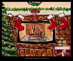 Twas the Night Before Christmas Painting - Jackie Schon, The Paint Bar