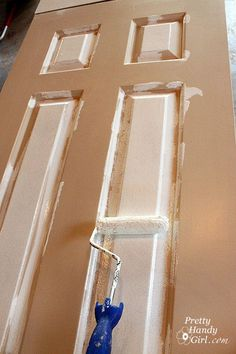 Painting a paneled door