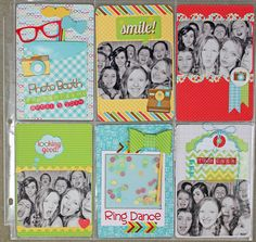 ***Doodlebug Designs*** Photobooth Shenanigans - Scrapbook.com - Stitch around vellum over sequins for a shaker element.