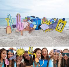 beach photo booth props - perfect for a summer party or to celebrate a vacation. $14.99, via Etsy.