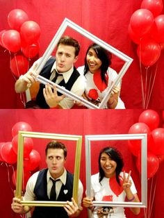 Nick Pitera and Rachel Agana at the Red Balloon Event 2011... so cute! I love this!
