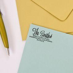 Custom Return Address Stamp - Personalized Return Address Stamp - Modern Typography. $32.95, via Etsy.