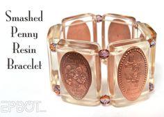 Smashed Penny Resin Bracelet -MouseTalesTravel.com  #MTT #disneydiy #crafts