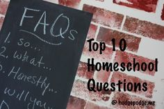 Do you think you are in for a shocker? FAQs #Homeschool Questions at Hodgepodge