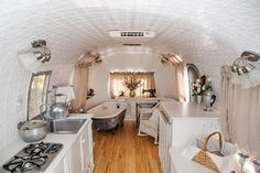 This Airstream Restoration is incredible - light and funky