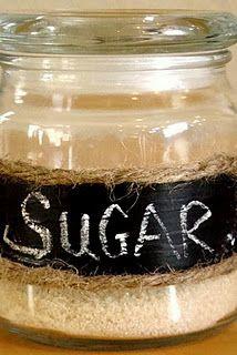 Bath and Body Works candle jar --> sugar jar
