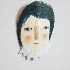 And a face! ...#papiermache