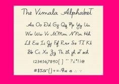 The Vimala Alphabet