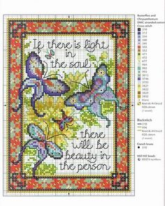"""cross-stitch butterflies.. """"If there is..."""""""