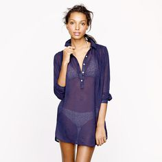 Whisper gauze beach tunic - J Crew