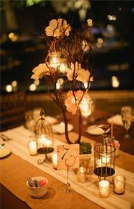 DIY romantic, earthy, rustic, shabby chic decor : wedding brown chicago diy earthy extra wide burlap runners ivory lanterns no pictures during ceremony orange pink plus size reception rustic silver unique centerpieces vintage Snrec