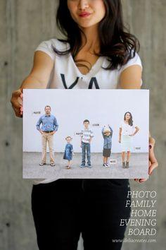 Photo Family Chore Board - delia creates