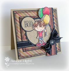 Cute boy birthday card