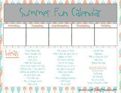 SummerFunCalendar2 Summer Fun Calendar