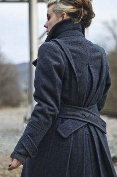 Reworked vintage British National Fire Service wool coat