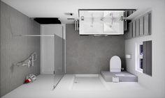 Badkamer ontwerpen van sani bouw vraag een gratis 3d ontwerp met 360 view aan voor uw badkamer - Betegelde badkamer ontwerp ...