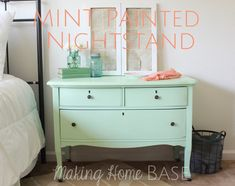 The perfect color mint. Lovely dresser redo @Chelsea Rose Rose @Chelsea Rose @Chelsea @makinghomebase