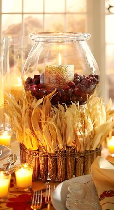 fall centerpiece.....