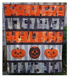 Spook alley, Halloween Jack-0-Lantern quilt by ABBEY LANE QUILTS: FALL IS HERE